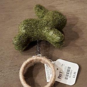 Pier 1 Easter Bunny Napkin Ring/Holder